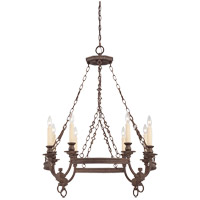 Savoy House Bastille 8 Light Chandelier in Heritage Bronze 1-6744-8-117