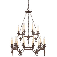 Savoy House Bastille 18 Light Chandelier in Heritage Bronze 1-6746-18-117