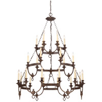 Savoy House Bastille 24 Light Chandelier in Heritage Bronze 1-6747-24-117 photo thumbnail