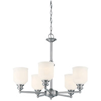 Melrose 5 Light 24 inch Polished Chrome Chandelier Ceiling Light