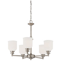 Savoy House 1-6837-5-SN Melrose 5 Light 24 inch Satin Nickel Chandelier Ceiling Light