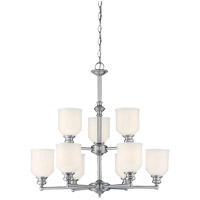 Melrose 9 Light 26 inch Polished Chrome Chandelier Ceiling Light