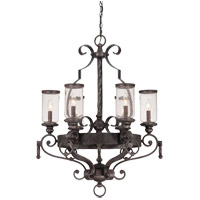 Savoy House Highlands 6 Light Chandelier in Forged Black 1-6980-6-17