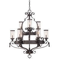 Savoy House Highlands 9 Light Chandelier in Forged Black 1-6981-9-17