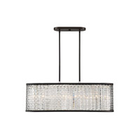 Savoy House 1-702-4-106 Leeds 4 Light 32 inch Chrome and Metallic Bronze Linear Chandelier Ceiling Light
