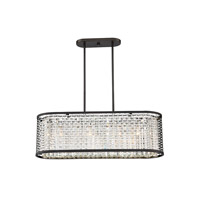 Savoy House 1-702-4-106 Leeds 4 Light 32 inch Chrome and Metallic Bronze Trestle Ceiling Light alternative photo thumbnail