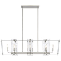 Savoy House 1-7113-8-SN Everett 8 Light 44 inch Satin Nickel Linear Chandelier Ceiling Light