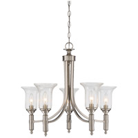 Trudy 5 Light 25 inch Satin Nickel Chandelier Ceiling Light in Clear Seeded