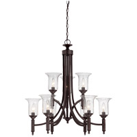 Trudy 9 Light 28 inch English Bronze Chandelier Ceiling Light in Seeded