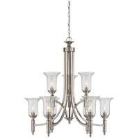 Savoy House 1-7131-9-SN Trudy 9 Light 28 inch Satin Nickel Chandelier Ceiling Light