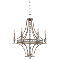 Savoy House 1-7151-6-272 Filament 6 Light 28 inch Silver Dust Chandelier Ceiling Light photo thumbnail