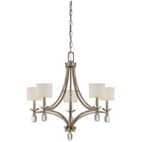 Filament 5 Light 25 inch Silver Dust Chandelier Ceiling Light