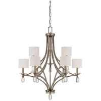 Filament 9 Light 33 inch Silver Dust Chandelier Ceiling Light