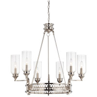 Savoy House Coronado 6 Light Chandelier in Polished Nickel 1-7170-6-109