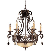 Savoy House Chinquapin 6 Light Chandelier in Moroccan Bronze 1-7180-6-241 photo thumbnail