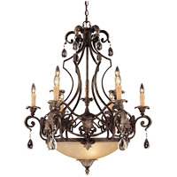 Savoy House Chinquapin 9 Light Chandelier in Moroccan Bronze 1-7181-9-241