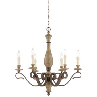 Mallory 6 Light 28 inch Fossil Stone Chandelier Ceiling Light