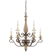 Mallory 9 Light 29 inch Fossil Stone Chandelier Ceiling Light