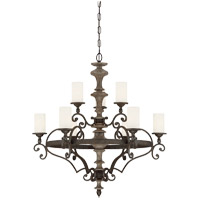 Strathmore 9 Light 33 inch Century Bronze Chandelier Ceiling Light