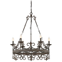 Flanders 6 Light 30 inch Feildstone Chandelier Ceiling Light