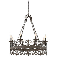 Flanders 8 Light 34 inch Feildstone Chandelier Ceiling Light