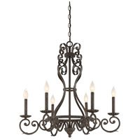 Bree 6 Light 28 inch Feildstone Chandelier Ceiling Light