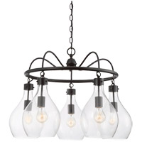 Savoy House Pulaski 5 Light Chandelier in Oiled Bronze 1-802-5-02
