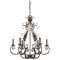 Blair 6 Light 28 inch Feildstone Chandelier Ceiling Light