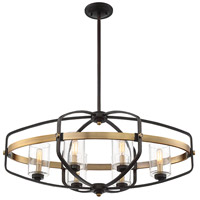 Savoy House 1-8042-6-79 Kirkland 6 Light 32 inch English Bronze / Warm Brass Linear Chandelier Ceiling Light alternative photo thumbnail