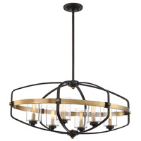 Savoy House 1-8042-6-79 Kirkland 6 Light 32 inch English Bronze and Warm Brass Trestle Ceiling Light alternative photo thumbnail