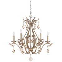 Rothchild 6 Light 28 inch Oxidized Silver Chandelier Ceiling Light