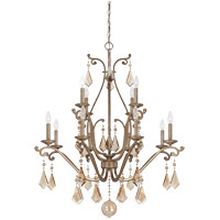 Rothchild 12 Light 35 inch Oxidized Silver Chandelier Ceiling Light