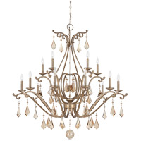 Rothchild 15 Light 45 inch Oxidized Silver Chandelier Ceiling Light