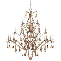 Rothchild 24 Light 72 inch Oxidized Silver Chandelier Ceiling Light