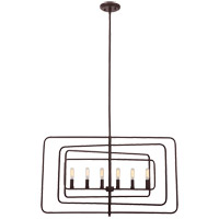 Berlin 6 Light 32 inch English Bronze Chandelier Ceiling Light