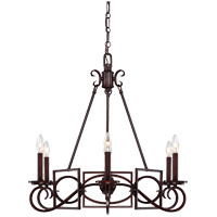 Savoy House Harmony 6 Light Chandelier in Mohican Bronze 1-8200-6-121