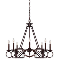 Savoy House Harmony 8 Light Chandelier in Mohican Bronze 1-8201-8-121