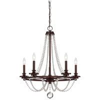 Savoy House Byanca 5 Light Chandelier in Mohican Bronze 1-8350-5-121