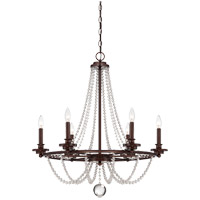 Byanca 6 Light 28 inch Mohican Bronze Chandelier Ceiling Light