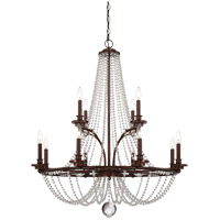 Savoy House Byanca 12 Light Chandelier in Mohican Bronze 1-8352-12-121
