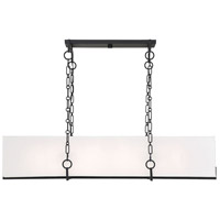 Savoy House 1-8400-8-89 Abbott 8 Light 44 inch Matte Black Linear Chandelier Ceiling Light