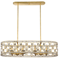 Clarion 8 Light 15 inch Gold Bullion Chandelier Ceiling Light, Oval