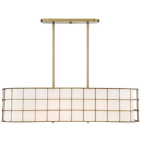 Savoy House 1-8500-5-322 Hayden 5 Light 42 inch Warm Brass Linear Chandelier Ceiling Light