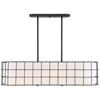 Savoy House 1-8500-5-89 Hayden 5 Light 42 inch Black Linear Chandelier Ceiling Light