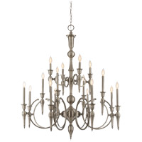 Savoy House Shannon 16 Light Chandelier in Polished Pewter 1-860-16-57