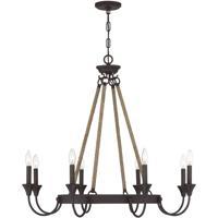 Savoy House 1-8600-8-32 Sienna 8 Light 34 inch Artisan Rust Chandelier Ceiling Light