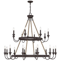 Savoy House 1-8601-20-32 Sienna 20 Light 48 inch Artisan Rust Chandelier Ceiling Light