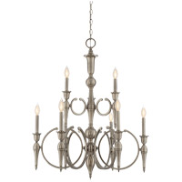 Savoy House Shannon 9 Light Chandelier in Polished Pewter 1-861-9-57