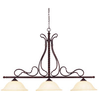Savoy House Kensley 3 Light Island Light in Distressed Bronze 1-8614-3-59 photo thumbnail