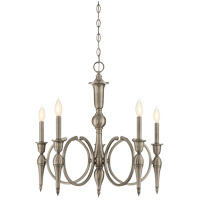 Savoy House Shannon 5 Light Chandelier in Polished Pewter 1-862-5-57